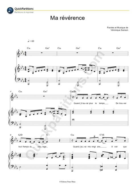 tutorial piano veronique sanson partition piano ma r 233 v 233 rence v 233 ronique sanson partition