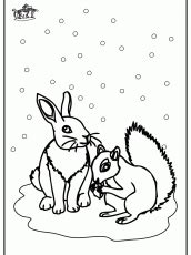 snow bunny coloring pages rabbit in the snow winter animals az coloring pages