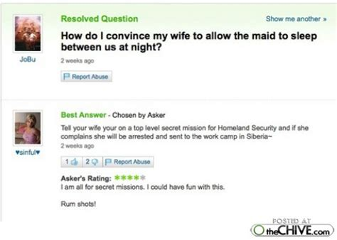 hilarious yahoo answers 15 photos thechive