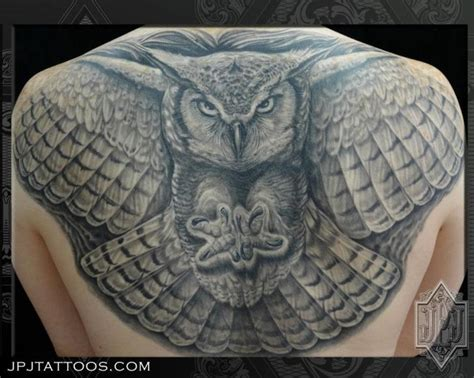 owl tattoo upper back 45 most wonderful collection of owl tattoos on back