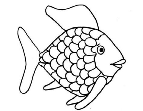 fish coloring pages for kindergarten kids printable rainbow fish coloring page free creative