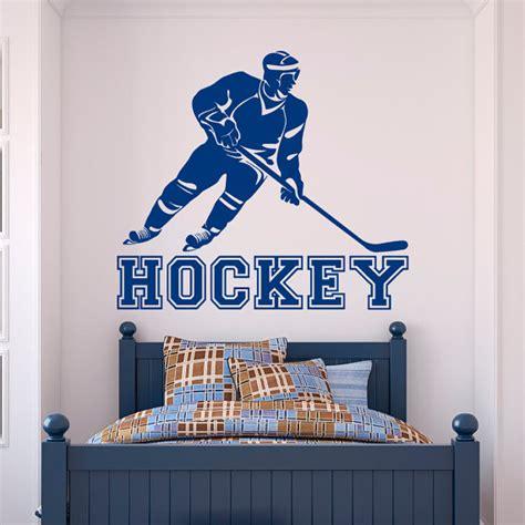 hockey wall stickers hockey wall decal sports sports wall decal stickers hockey