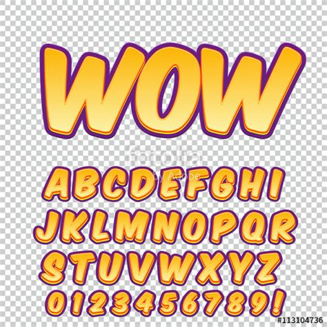 font pop art quot creative high detail comic font alphabet in the style of