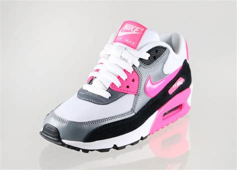 nike wmns air max 90 essential white cool grey black hyper pink asphaltgold