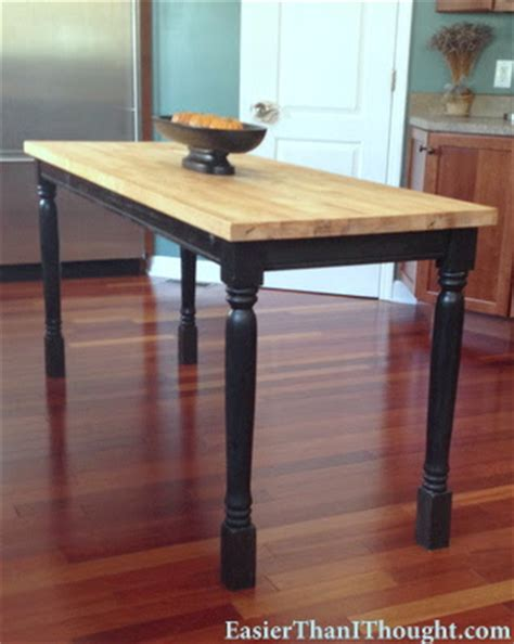 counter height butcher block table making my stead diy kitchen table part 1