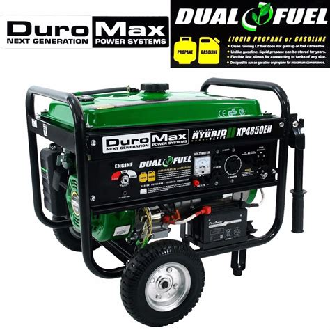 duromax generator portable power dual fuel propane gas