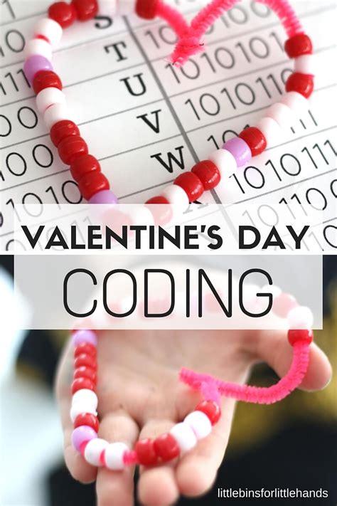 valentines day coding stem binary alphabet beaded hearts