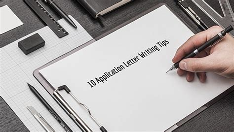application letter writing tips premium templates