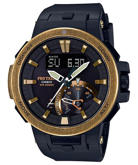 G Shock Protreck Black Gold protrek prw 7000v 1 with gold ion plating
