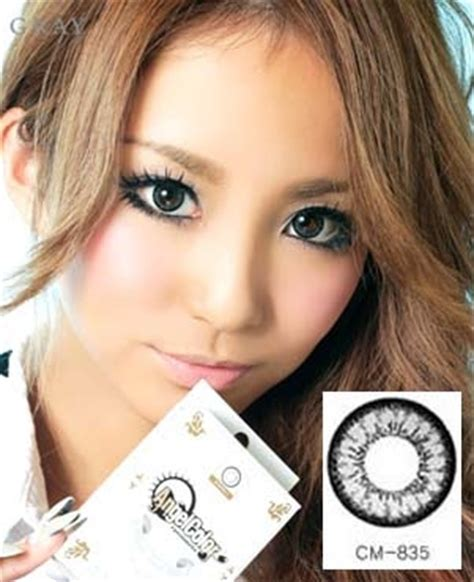 geo angel grey colored contact lenses