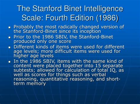 stanford binet sle report stanford binet sle report 28 images the iq