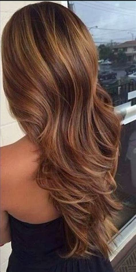 awesome brown hair with caramel highlights hair