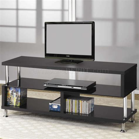 modern tv stands black tempered glass chrome accents modern tv stand