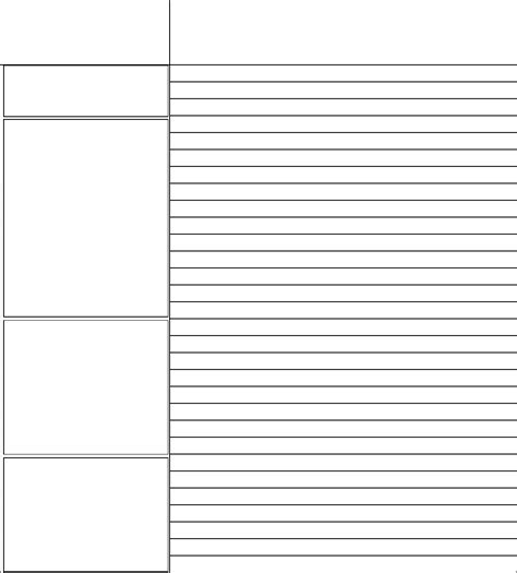 cornell notes template  word   formats