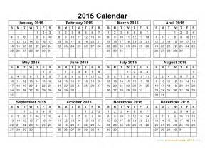 Free Downloadable 2015 Calendar Template by Free Printable Yearly Calendar 2015 2017 Printable Calendar