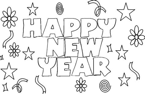 Happy New Year 2017 Coloring Pages Coloring Home New Years Colouring Pages