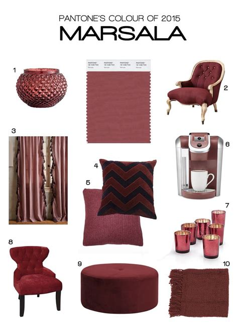 64 best images about marsala color of the year 2015 on dining beautiful homes