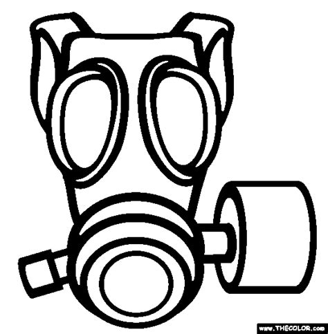 printable gas mask template online coloring pages starting with the letter t page 4