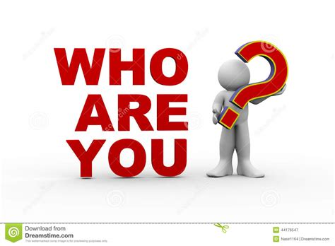 Who You 3d who are you stock illustration image of identity