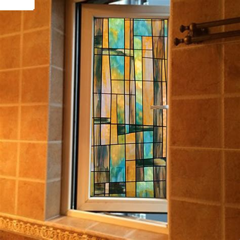 No Glue Electrostatic Window Stickers Stained Glass Stained Glass Sliding Doors