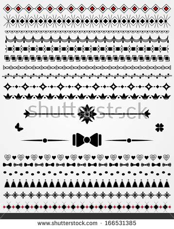 page borders dividers decorations black white stock vector