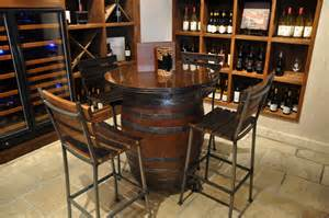 Wine Bar Table Wine Barrel Table
