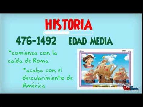 historia de la edad 8497597370 repaso historia edad media youtube