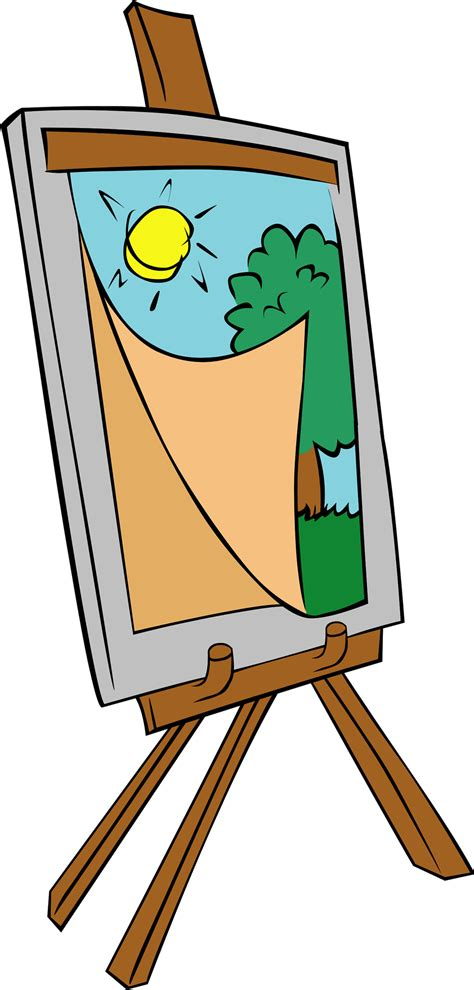 Paint Easel Clipart painting free stock photo illustration of a painting on an easel 17480