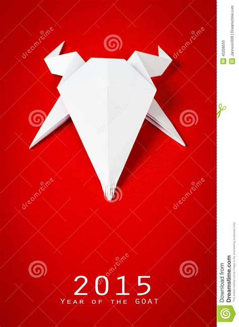 origami goat for new year origami paper goat on background new year stock photo