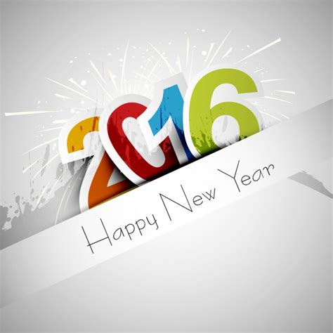new year 2016 greeting card free happy new year 2016 greeting card vector free