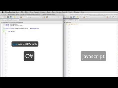 tutorial javascript unity vb vs c vs java vs html and javascript funnydog tv