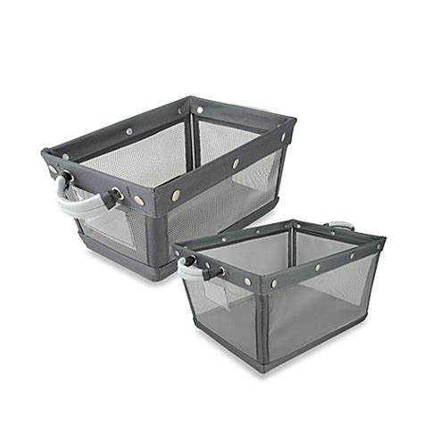mesh wire bathroom storage bin bed bath beyond