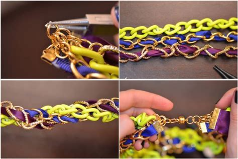 easy to make jewelry easy ribbon necklace diy 183 how to make a ribbon necklace