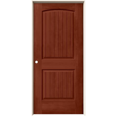 home depot jeld wen interior doors jeld wen 36 in x 80 in santa fe amaretto stain right molded composite mdf single prehung