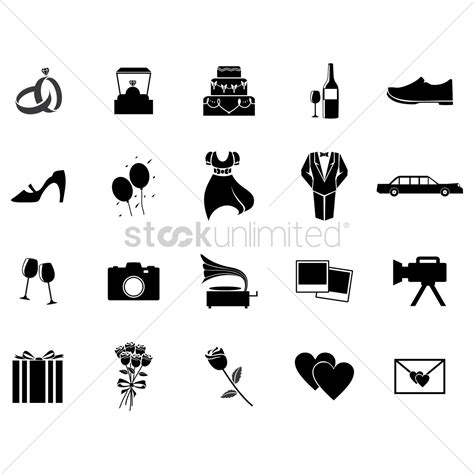 Wedding Icon by Set Of Wedding Icons Vector Image 1520378 Stockunlimited