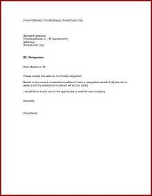 How To Write A Basic Resignation Letter by Format Of A Letter Of Resignation Format For A Letter Of Resignation Socialsci Letter For