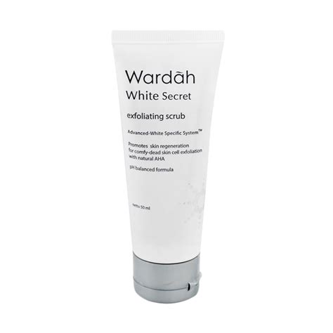 jual wardah white secret exfoliating scrub 50 ml