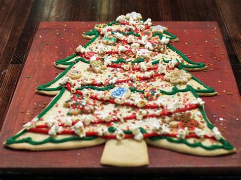 christmas tree cookie cake recipe food network kitchen
