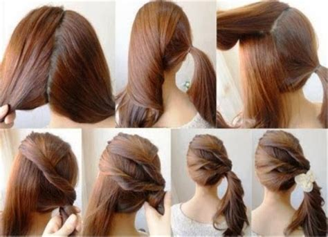 valentine day easy hairstyles tutorials beauty tips