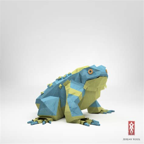 3d Origami Frog - 3d origami illustrations of animals motley news