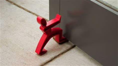 cool  innovative door stops kerala home design
