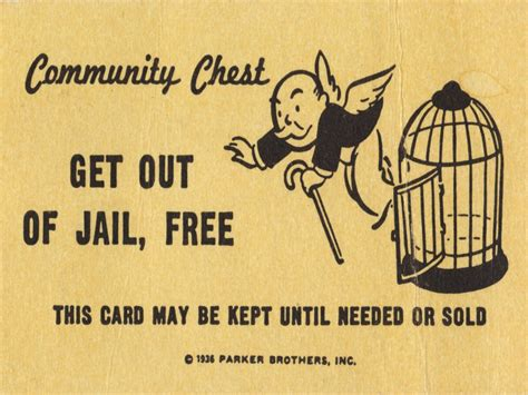 get out of free card template new york bans monopoly from prisons after recent escapes