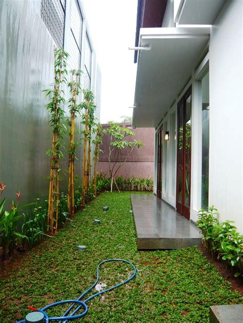 desain rumah depan belakang gambar gambar desain taman belakang rumah sederhana