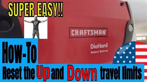 adjust garage door opener height craftsman dandk