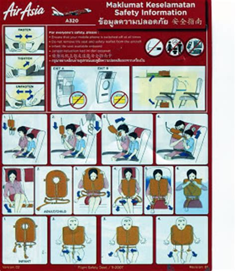airasia safety paulchoong exchange safety card air asia a320 code 11 2007