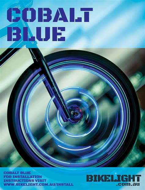 blue lights for bikes cobalt blue bike light bikelight com au