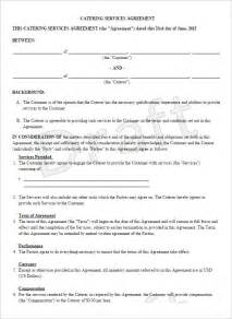 6 catering contract templates free word pdf documents