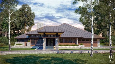 prairie house plans modern prairie style home plan eurohouse prairie house by