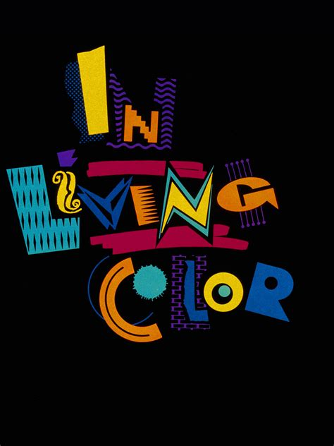 inliving color quot in living color quot tv series logo circa 1991 90sdesign