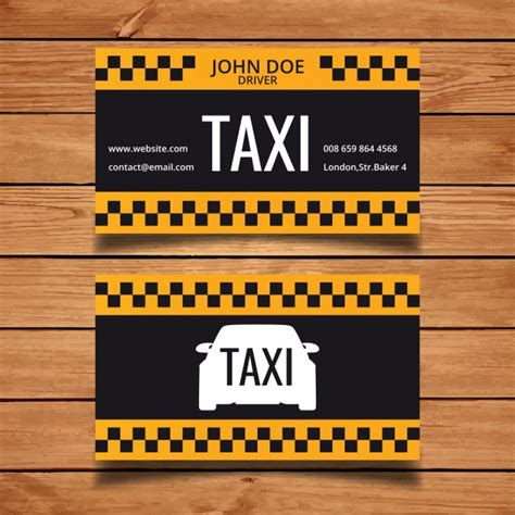 taxi name card template taxi business card template vector free